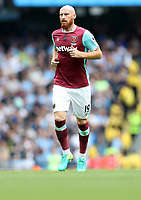 Football - James Collins of West Ham United during the match at the Etihad Stadium between Manchester City and West Ham United. <br /> <br /> 2016 / 2017 Premier League - Manchester City vs. West Ham United<br /> <br /> -- at The Etihad Stadium.<br /> <br /> COLORSPORT/LYNNE CAMERON