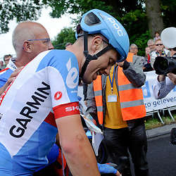 NK Weg Elite mannen te Ootmarsum<br /> Sabastiaan Langeveld wint de wedstrijd over 250 km in het Twentse Ootmarsum. Niki Terpstra eindigt op de tweede plaats voor Wesley Kreder