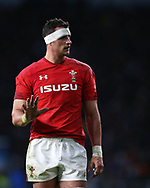 Aaron Shingler of Wales looks on. England v Wales, NatWest 6 nations 2018 championship match at Twickenham Stadium in Middlesex, England on Saturday 10th February 2018.<br /> pic by Andrew Orchard, Andrew Orchard sports photography