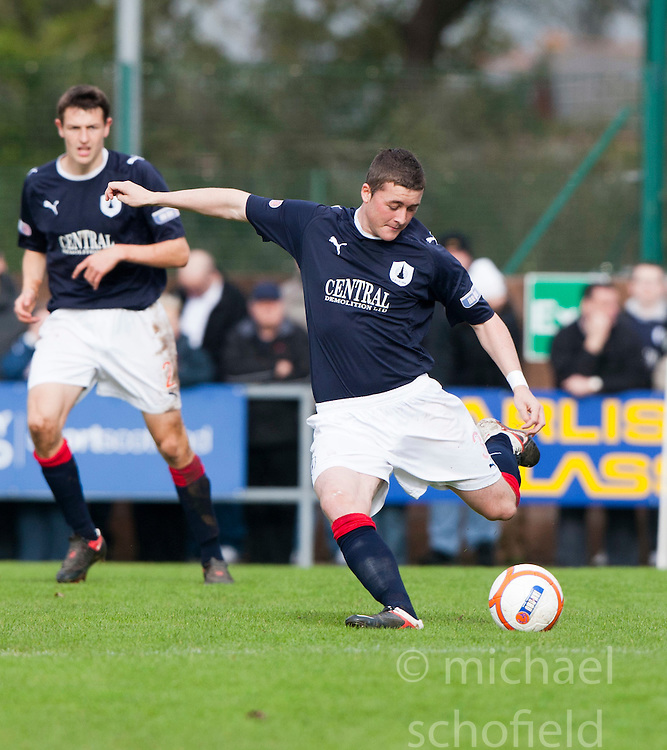 Falkirk's Thomas Scobbie..Annan Athletic 0 v 3 Falkirk. Semi Final of the Ramsdens Cup, 9/10/2011..Pic © Michael Schofield.