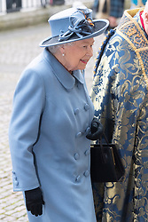© Licensed to London News Pictures. British Queen Elizabeth II attends the Commonwealth Service at Westminster Abbey. Photo credit: Ray Tang/LNP