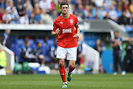 Mark Hudson, the Huddersfield Town captain in action. EFL Skybet  championship match, Reading  v Huddersfield Town at The Madejski Stadium in Reading, Berkshire on Saturday 24th September 2016.<br /> pic by John Patrick Fletcher, Andrew Orchard sports photography.