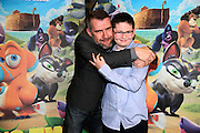 NO FEE PICTURES <br /> 19/4/15 Callum Maloney, age 11, who plays Finny and Dermot Magennis, who plays Dave at the Irish Premiere of Two by Two at the Savoy cinema in Dublin. Picture:Arthur Carron