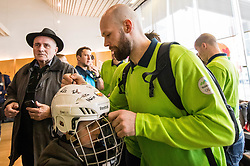 Andrej Hebar during departure of Slovenia Olympic Team for PyeongChang 2018, on February 6, 2018 in Airport Joze Pucnik, Brnik, Slovenia. Photo by Morgan Kristan / Sportida