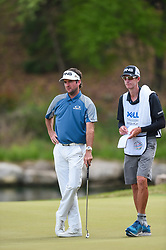March 24, 2018 - Austin, TX, U.S. - AUSTIN, TX - MARCH 24: Bubba Watson and his caddie look on during the quarterfinals of the WGC-Dell Technologies Match Play on March 24, 2018 at Austin Country Club in Austin, TX. (Photo by Daniel Dunn/Icon Sportswire) (Credit Image: © Daniel Dunn/Icon SMI via ZUMA Press)