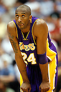Los Angeles Lakers guard Kobe Bryant in Game 4 of an NBA basketball first-round playoff series Saturday, April 25, 2009, in Salt Lake City..(AP Photo/Colin Braley)