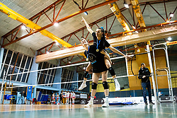 Lucille June Charuk of Calcit Volley and Andjelka Radiskovic of Calcit Volley celebrates after 3rd Leg Volleyball match between Calcit Volley and Nova KBM Maribor in Final of 1. DOL League 2020/21, on April 17, 2021 in Sportna dvorana, Kamnik, Slovenia. Photo by Matic Klansek Velej / Sportida