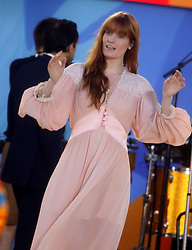 June 29, 2018 - New York City, New York, U.S. - Singer FLORENCE WELCH performs on 'Good Morning America' with her group FLORENCE AND THE MACHINE in Central Park. (Credit Image: © Nancy Kaszerman via ZUMA Wire)