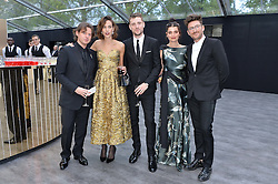 Left to right, CHRISTOPHER KANE, ALEXA CHUNG, GEORGE BARNETT, PIXIE GELDOF and HENRY HOLLAND at British Vogue's Centenary Gala Dinner in Kensington Gardens, London on 23rd May 2016.