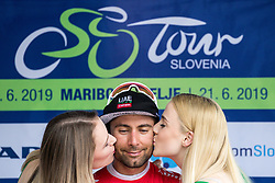 Diego Ulissi (ITA) of UAE Team Emirates celebrates at trophy ceremony after 4th Stage of 26th Tour of Slovenia 2019 cycling race between Nova Gorica and Ajdovscina (153,9 km), on June 22, 2019 in Slovenia. Photo by Matic Klansek Velej / Sportida