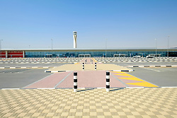 New Al Maktoum airport terminal building in Dubai World Central logistics district Jebel Ali Dubai United Arab Emirates