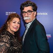 NLD/Amsterdam/20190322  - Boekenbal 2019, Kader Abdolah en partner