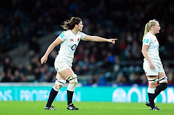 Sarah Hunter of England - Mandatory byline: Patrick Khachfe/JMP - 07966 386802 - 26/11/2016 - RUGBY UNION - Twickenham Stadium - London, England - England Women v Canada Women - Old Mutual Wealth Series.