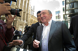 © London News Pictures. 31/08/2012. London, UK. Russian Oligarch Boris Berezovsky leaving The Royal Courts Of Justice on August 31, 2012 after a judge ruled against Berezovsky in a  £3.2 billion lawsuit over Abramovich's £10.3 billion fortune. Photo credit: Ben Cawthra/LNP