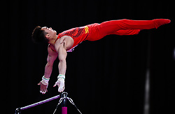 JAKARTA, Aug. 24, 2018  Sun Wei of China competes during the Artistic Gymnastics Men's Horizontal Bar Final at the Asian Games 2018 in Jakarta, Indonesia on Aug. 24, 2018. (Credit Image: © Li Xiang/Xinhua via ZUMA Wire)