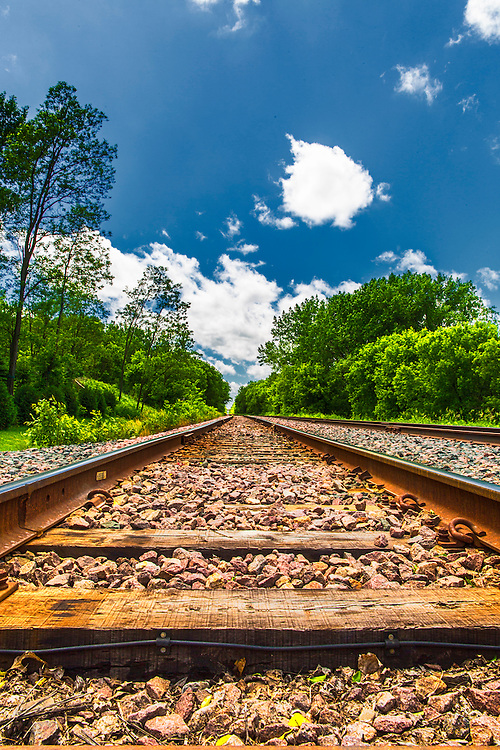 Train Tracks Running Through A Subdivision in Hopkins, Minnesota