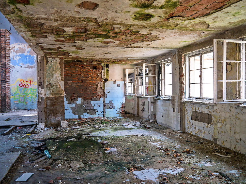 Ruiny dawnego Domu Oficera, Borne Sulinowo, była baza Północnej Grupy Wojsk Radzieckich
