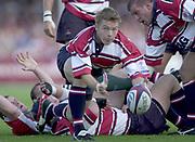 Gloucester, Gloucestershire, UK., 11th October 2003,  Kingsholm Stadium, Zurich Premiership Rugby, [Mandatory Credit: Peter Spurrier/Intersport Images],<br /> <br /> 11/10/2003 - Photo  Peter Spurrier<br /> 2003/04 Zurich Premiership Rugby: Gloucester v Leicester <br /> Alex Page