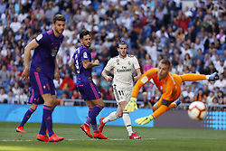 March 16, 2019 - Madrid, Madrid, Spain - Real Madrid CF's Gareth Bale seen scoring a goal during the Spanish La Liga match round 28 between Real Madrid and RC Celta Vigo at the Santiago Bernabeu Stadium in Madrid. (Credit Image: © Manu Reino/SOPA Images via ZUMA Wire)