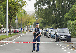 March 15, 2019 - Christchurch, Canterbury, New Zealand - Armed police seal off street to Masjid Al Noor mosque, one of two mosques where gunmen attacked and more than 40 people are dead and injured. Four people have been arrested and several bombs were found following the shootings. (Credit Image: © PJ Heller/ZUMA Wire)