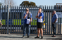 Bristol Rovers fans before kick off - Mandatory by-line: Arron Gent/JMP - 21/09/2019 - FOOTBALL - Cherry Red Records Stadium - Kingston upon Thames, England - AFC Wimbledon v Bristol Rovers - Sky Bet League One