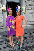 Bairbre Muldoon, Salthill, Doreen Higgins, Claremorris<br />  at the Hotel Meyrick Most Stylish Lady event on ladies day of The Galway Races. Photo:Andrew Downes