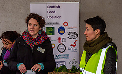 Pictured: <br /><br />Food bank managers, unions, and farmers shared lunch while they met with MSPs on International Human Rights Day to discuss the upcoming Good Food Nation Bill<br /><br />Ger Harley | EEm 10 December 2019