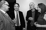 NICHOLAS LOGSDAIL, DAVID ROCKSAVAGE / DAVID CHOLMONDELEY, RICHARD LONG and DENISE HOOKER at the Whitechapel Gallery Art Icon 2015 Gala dinner supported by the Swarovski Foundation. The Banking Hall, Cornhill, London. 19 March 2015