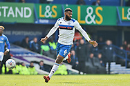 Rochdale Defender, Ethan Ebanks-Landell (6) during the EFL Sky Bet League 1 match between Portsmouth and Rochdale at Fratton Park, Portsmouth, England on 13 April 2019.