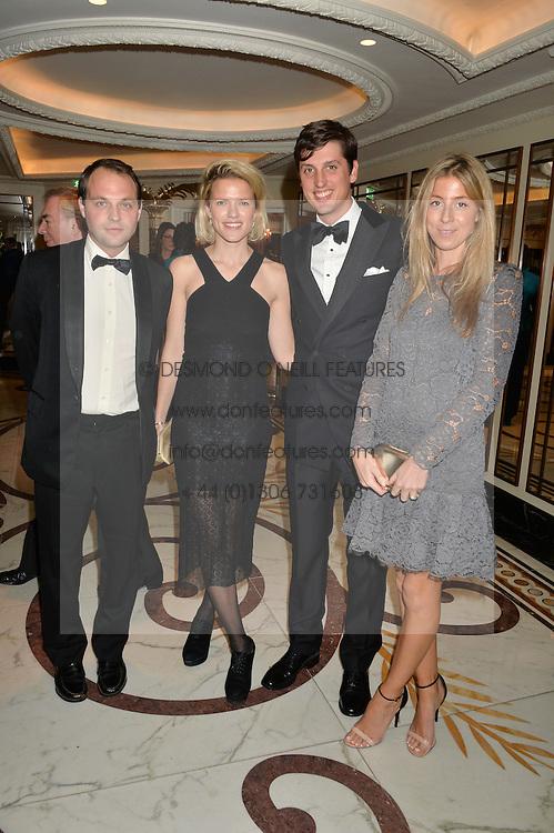Left to right, the HON.EDWARD SACKVILLE, ZOE WARREN, JAKE WARREN and SOPHIA SACKVILLE at the 24th Cartier Racing Awards held at The Dorchester, Park Lane, London on 11th November 2014.