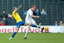 Milton Keynes Dons' Dean Lewington clears the ball - Photo mandatory by-line: Nigel Pitts-Drake/JMP - Tel: Mobile: 07966 386802 30/11/2013 - SPORT - Football - Milton Keynes - Stadium mk - MK Dons v Coventry City - Sky Bet League One