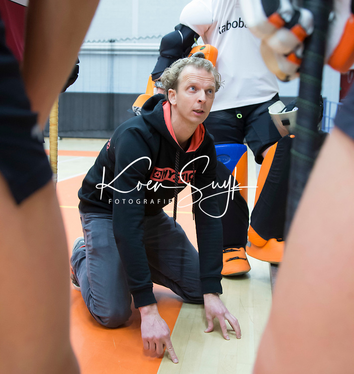 AMSTERDAM - Hoofdklasse zaalhockey. Union coach Jeroen van Eijk.   COPYRIGHT KOEN SUYK