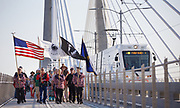 The Confederated Tribes of the Grand Ronde helped in ceremonies as Trimet opened the new Portland-Milwaukie MAX Orange line on Sept. 12, 2015. In the train were officials and dignitaries. Randy L. Rasmussen/Staff