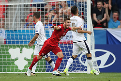 Czech Republic's Marek Havlik celebrates scoring his side's second goal of the game
