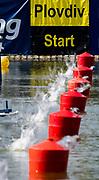 Plovdiv, Bulgaria, Sunday, 9th September 2018. FISA, World Rowing Championships, Boot Start System, Slow Shutter Speeds during start heat, © Peter SPURRIER,