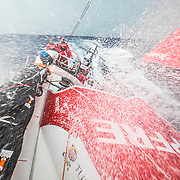Leg 4, Melbourne to Hong Kong, day 06 on board MAPFRE, we have got some southern ocean conditions with today's storms, the difference was the water temperature, almost nothing. Photo by Ugo Fonolla/Volvo Ocean Race. 06 January, 2018.