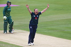 June 15, 2018 - London, United Kingdom - Anya Shrubsole of England Women gets LBW on Lizelle Lee South Africa Women.during Women's One Day International Series match between England Women against South Africa Women at The Spitfire Ground, St Lawrence, Canterbury, on 15 June 2018  (Credit Image: © Kieran Galvin/NurPhoto via ZUMA Press)