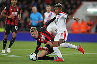 Football - 2018 / 2019 Premier League - AFC Bournemouth vs. Crystal Palace<br /> <br /> Patrick van Aanholt of Crystal Palace clears from Bournemouth's David Brooks at the Vitality Stadium (Dean Court) Bournemouth <br /> <br /> COLORSPORT/SHAUN BOGGUST