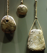 Loom and fishing net weights Ceramic and Stone 3rd and 2nd millennium BC