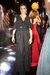 Lebanese film director Nadine Labaki seen at Elie Saab Jr (Fashion designer Elie Saab's son) and Christina Mourad wedding, in Faqra, Lebanon on July 19, 2019. The wedding is among the most incredible weddings of 2019, included four wedding outfits, over a million sequins and 1,200 guest. Photo by Balkis Press/ABACAPRESS.COM