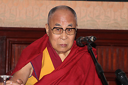 Press conference of the Dalai Lama hotel Borsa and after Massimo theater in Palermo. 18 Sep 2017 Pictured: Dalai Lama. Photo credit: Fotogramma / MEGA TheMegaAgency.com +1 888 505 6342