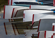 Caversham. Berkshire. UK<br /> Blades and reflections at the <br /> 2016 GBRowing, Para Rowing Media Day, UK GBRowing Training base near Reading, Berkshire.<br /> <br /> Friday  15/04/2016<br /> <br /> [Mandatory Credit; Peter SPURRIER/Intersport-images]