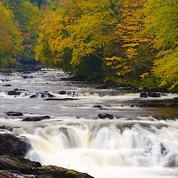 The Connecticut River in Pittsburg, New Hampshire.  Fall.