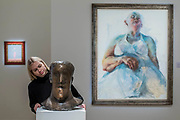 Dame Elisabeth Frink, Head, bronze, circa 1968 (est. £80,000-120,000) and Jenny Saville, Cultural Fetish, 1992 (est. £120,000-180,000) - Modern and Post-War British & Scottish Art at Sothebys New Bond Street. The sale will take place between 21 – 22 November.