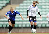 Fotball<br /> Norge<br /> 04.05.2011<br /> Foto: Morten Olsen, Digitalsport<br /> <br /> Trening Norge A kvinner<br /> Nadderud Stadion<br /> Internkamp - Norge Blå mot Norge Hvit<br /> <br /> Lene Mykjåland (B)<br /> Runa Vikestad (W)