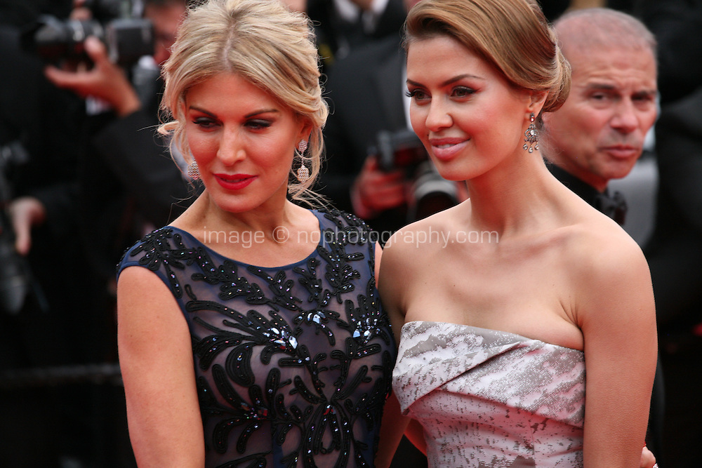 Hofit Golan and Victoria Bonya at the the Grace of Monaco gala screening and opening ceremony red carpet at the 67th Cannes Film Festival France. Wednesday 14th May 2014 in Cannes Film Festival, France.