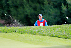 June 24, 2018 - Cromwell, CT, U.S. - CROMWELL, CT - JUNE 24: Paul Casey of England hits from the green side bunker on 8 during the Final Round of the Travelers Championship on June 24, 2018 at TPC River Highlands in Cromwell, Connecticut. (Photo by Fred Kfoury III/Icon Sportswire) (Credit Image: © Fred Kfoury Iii/Icon SMI via ZUMA Press)