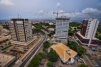 Accra - Cedi House, Ghana Export Promotion Council & Heritage Towers (left to right)