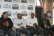 """Benny Boom and Inny Clemmons and Kirk """"Sticky Fingaz"""" Jones and Chamillionaire at The Black House during the 2008 Sundance Film Festival. ..HISTORY..The Blackhouse Foundation was created in 2007 by a group of dedicated individuals interested in black cinema - preserving and furthering its legacy. Black House works to provide a platform for African American filmmakers to use their voice to tell stories by and about African Americans in the world of independent and feature films...Black filmmakers made history in 2007, the year The Blackhouse Foundation launched the Blackhouse® venue at the 2007 Sundance Film Festival.  Blackhouse® played host to over 150 daily visitors with more than 1,200 people visiting the venue throughout the festival.  Blackhouse® was open to the public throughout the day, hosted workshops, a legendary nightly cocktail hour, a marquee party for Our Stories Films, LLC and launched a landmark fellows program for young, aspiring filmmakers.  ..MISSION..The mission of the Blackhouse Foundation is to expand opportunities for Black filmmakers by providing a physical venue for our constituents at the world's most prominent film festivals and creating a nucleus for continuing support, community, education and knowledge.  ."""