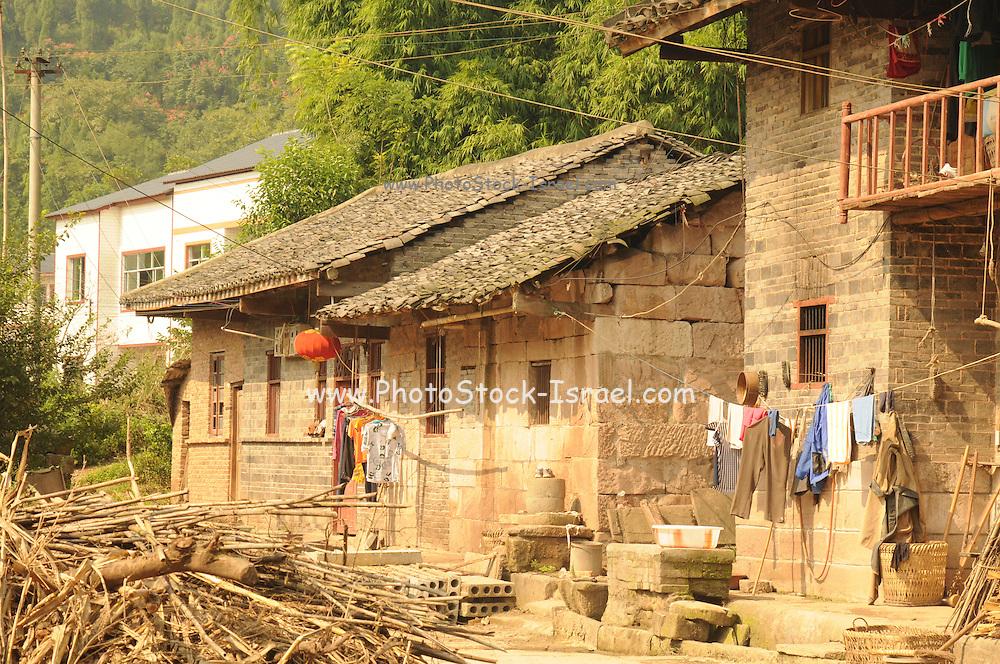 China, Xian Shaanxi, Moslem Quarters, Old mud brick house